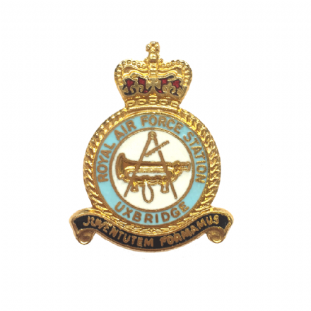 Royal Air Force RAF Station Uxbridge Lapel Badge